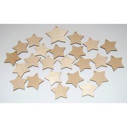 Sada dekorací 1 - dřevo - hvězdy