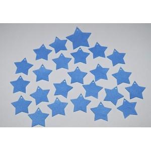 Sada dekorací 12 - filc - hvězdy modré