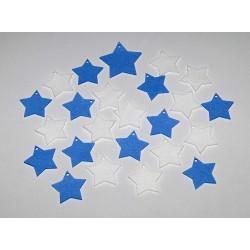 Sada dekorací 13 - filc - hvězdy m. a b.