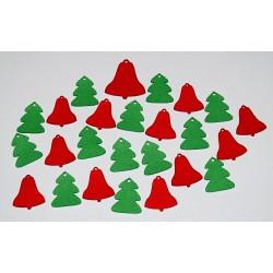 Sada dekorací 25 - filc - zvony a stromy