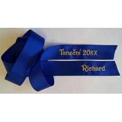 Taftová stuha na kytici - tmavě modrá