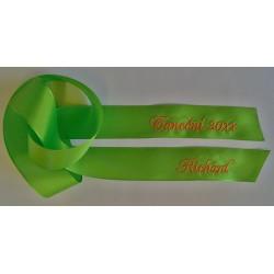 Taftová stuha na kytici - zelená